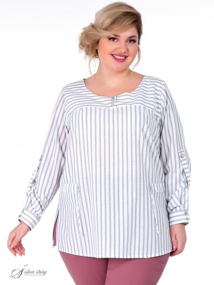 989044c16c0 Купить блузки большого размера в интернет-магазине Серебряная Нить