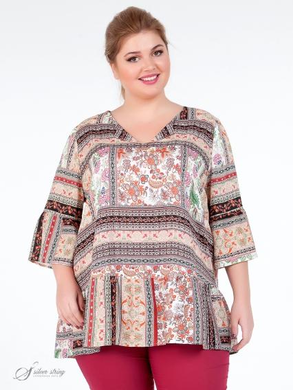 bc1be054bed Купить блузки большого размера в интернет-магазине Серебряная Нить
