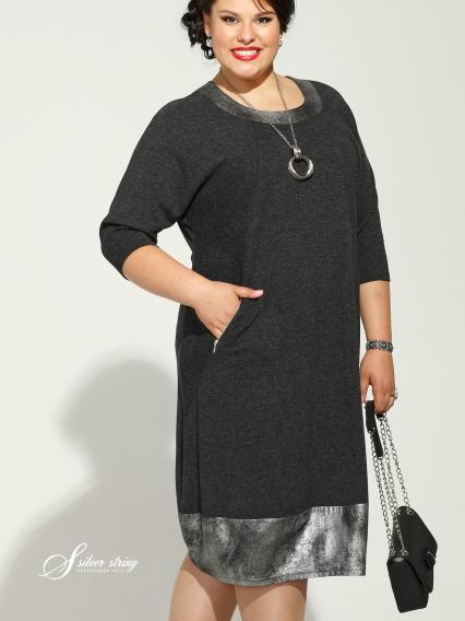 Фото платья с рукавом реглан для полных