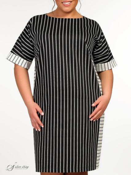 a8472fce7c7 Платья в полоску для полных женщин - купить в интернет-магазине ...