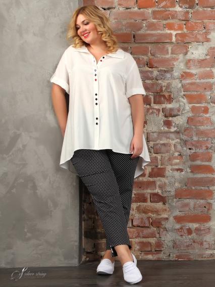 ae30043e2e8 Купить белую блузку большого размера в интернет-магазине