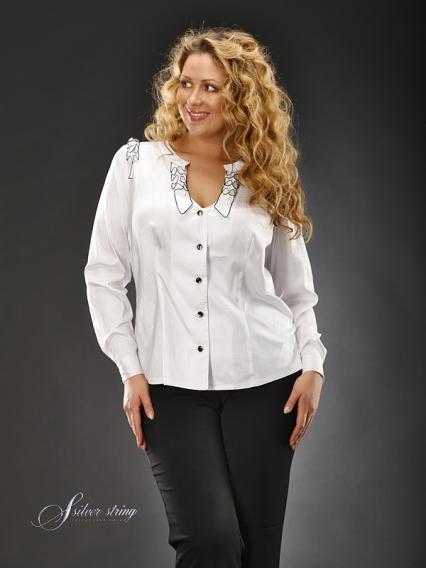 Белая Блузка Для Полных В Челябинске