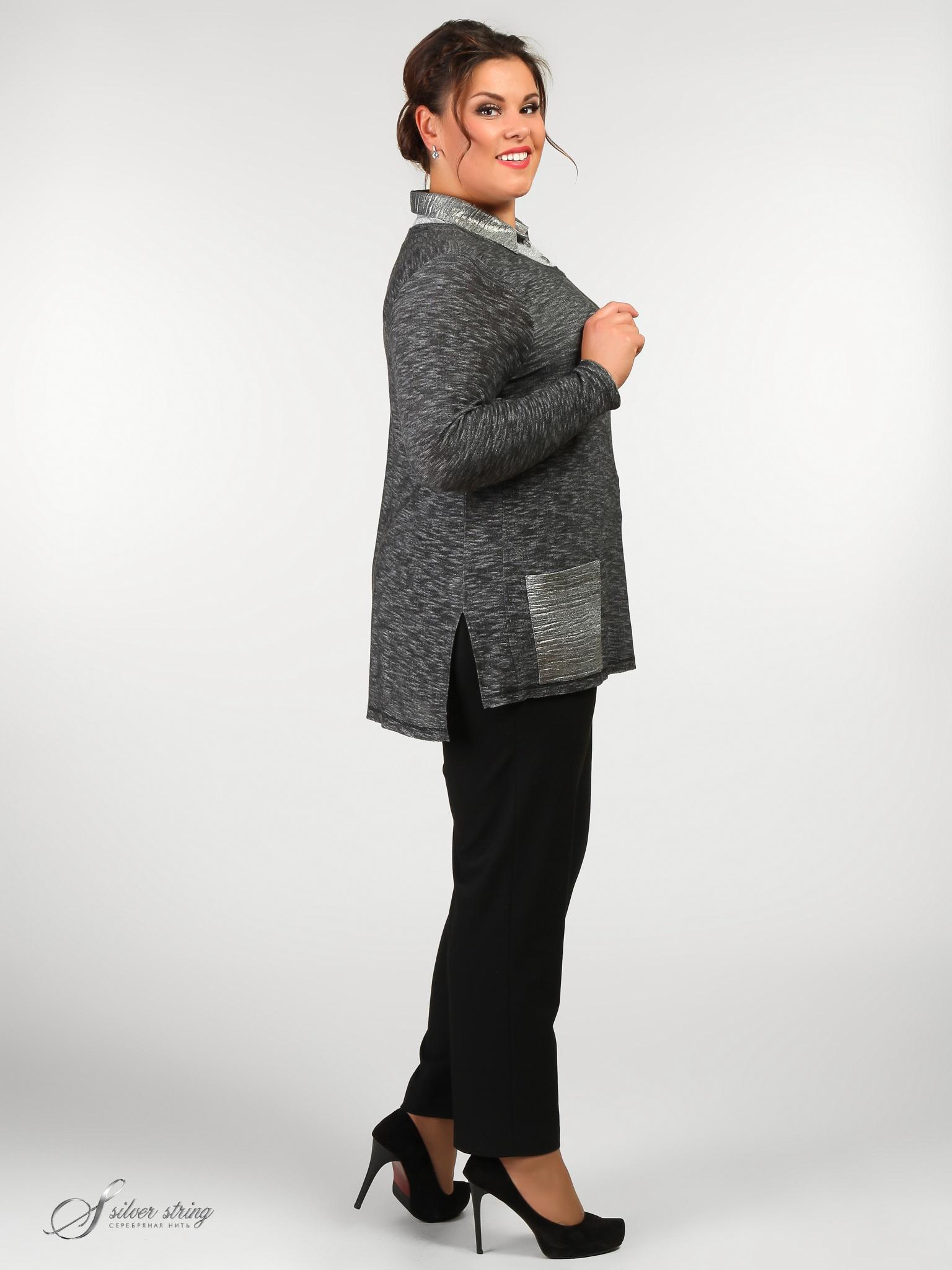 Женская Одежда Серебряная Нить