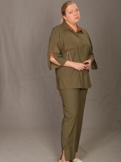 Женский костюм из льна доставка