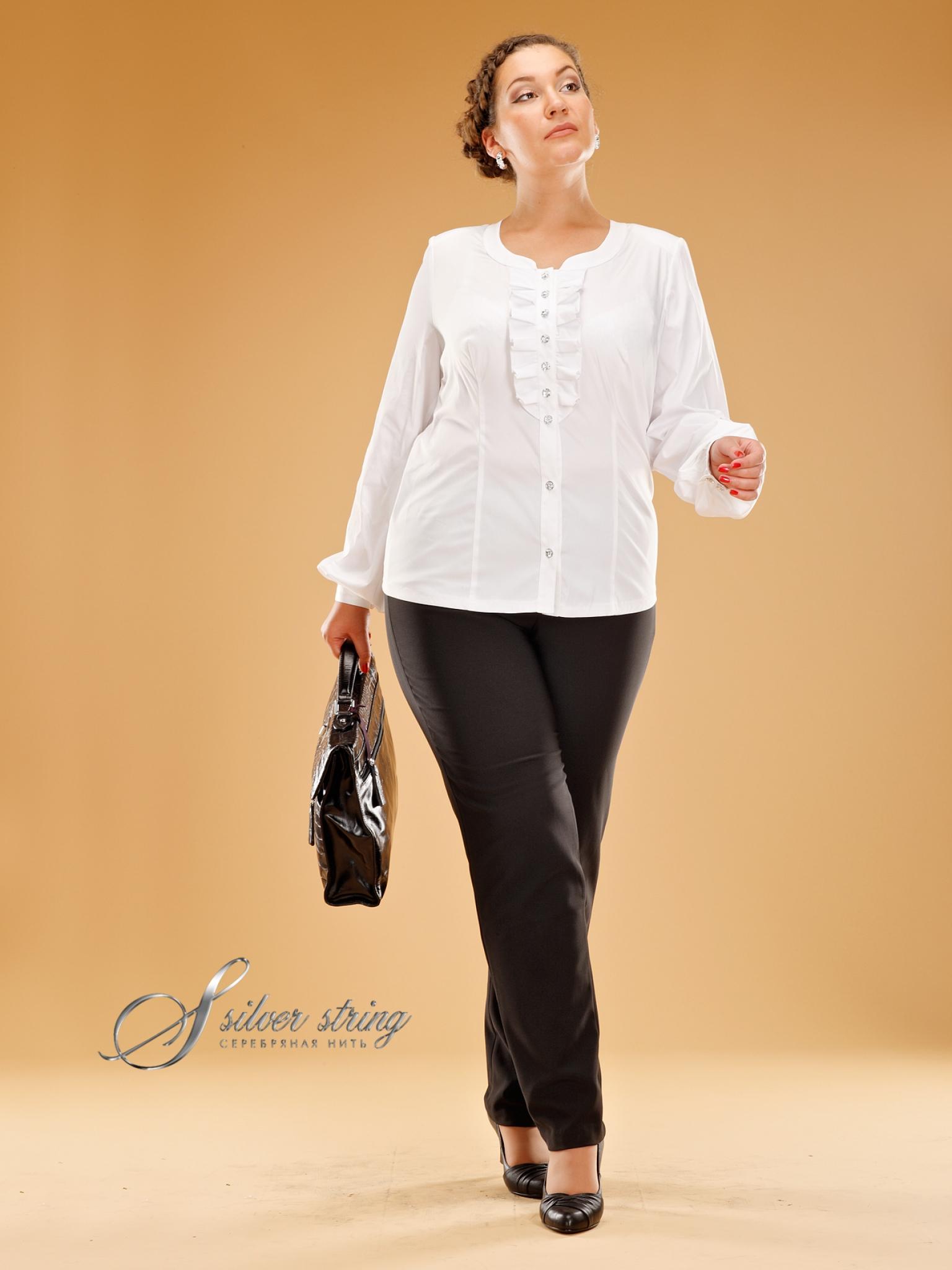 Белая Блузка Больших Размеров