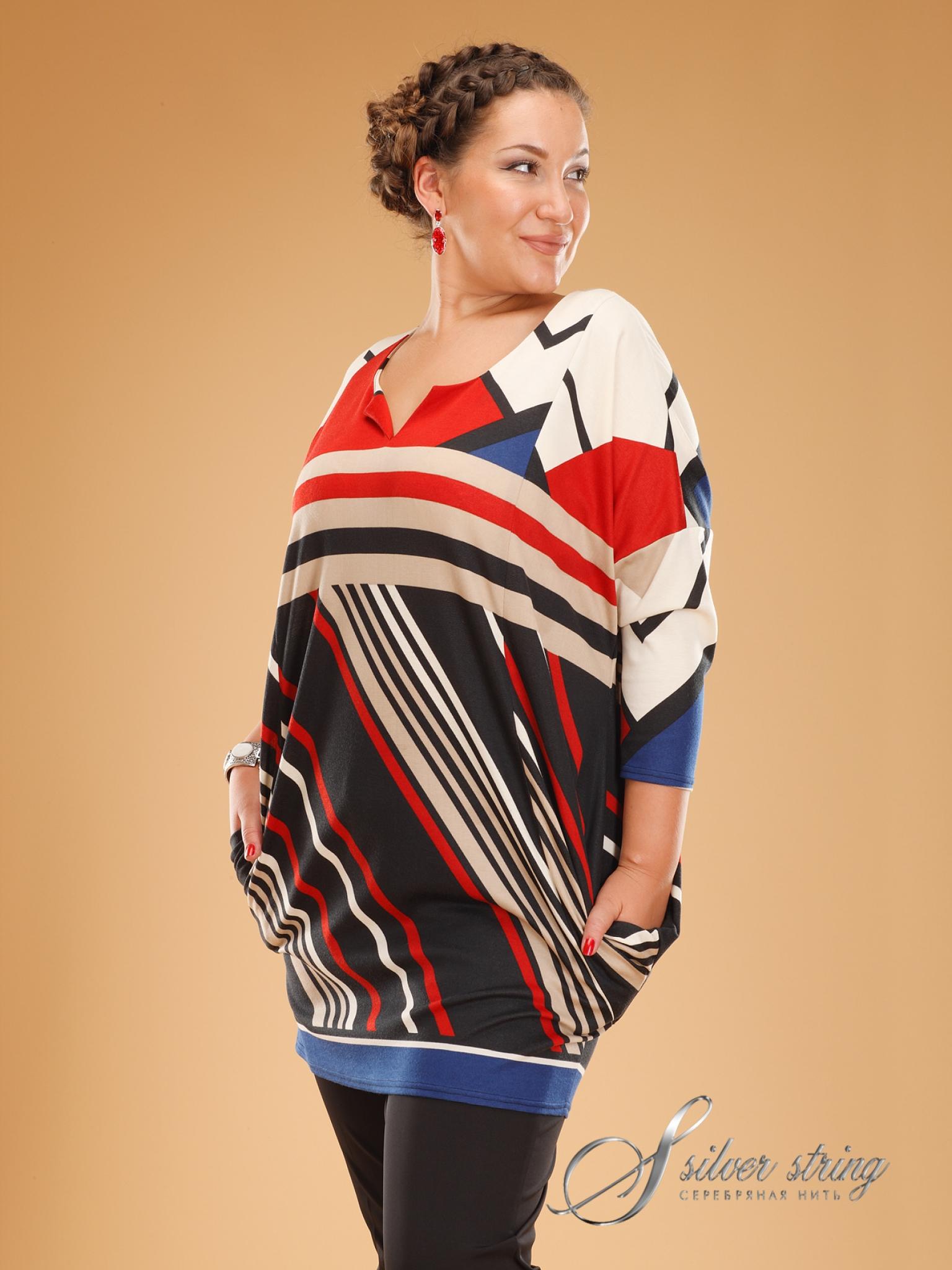 Женская Одежда Больших Размеров Серебряная Нить